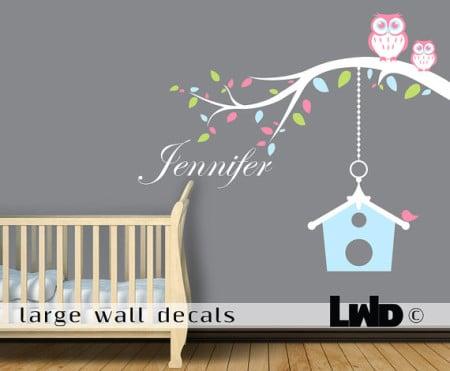 decorazione parete camera bambini