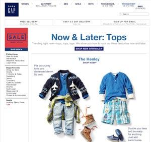 gap abbigliamento bambini