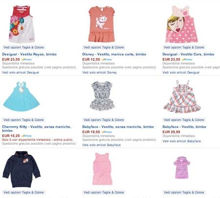 amazon abbigliamento bambina