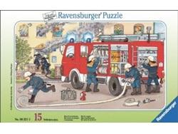 puzzle 15 pezzi pompieri
