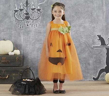 halloween costume zucca per bambina