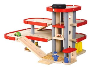 parcheggio legno per bambini