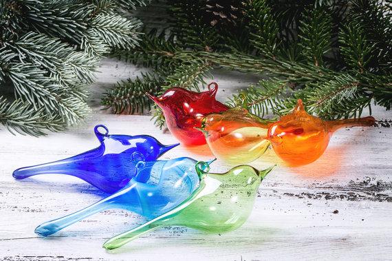 decorazione natale in vetro soffiato