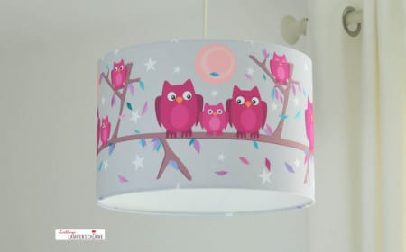 lampadari camerette bimbi : lampadario cameretta con gufi